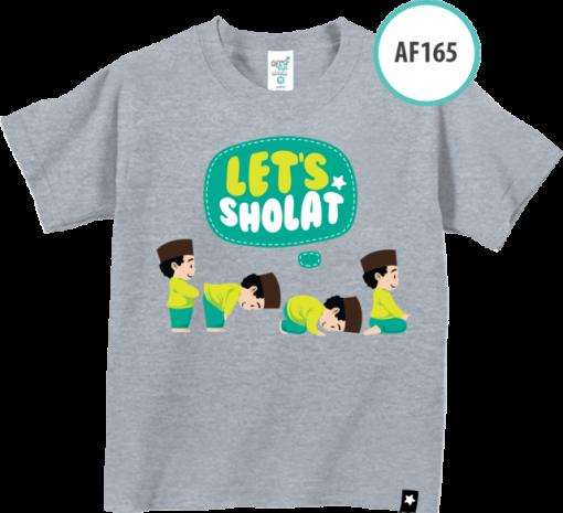 AF165 Kaos Anak Let's Shalat 1