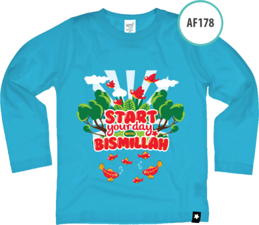AF178 Kaos Anak Start your day with Bismillah 1