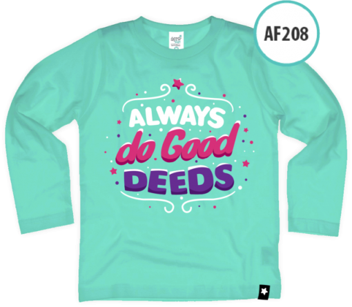 AF208 Kaos Anak Always do good deeds 1