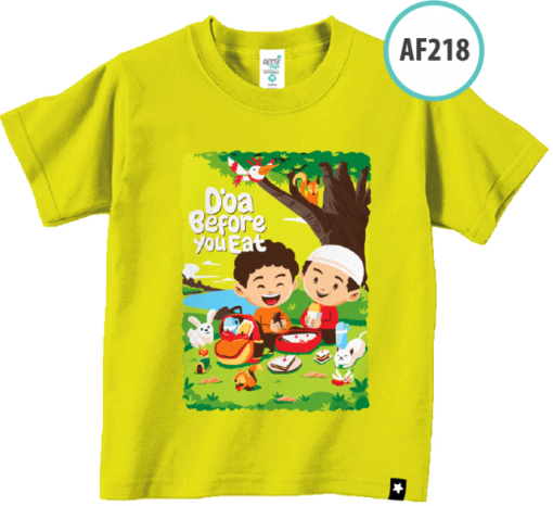 AF218 Kaos Anak Do'a Before You Eat 1