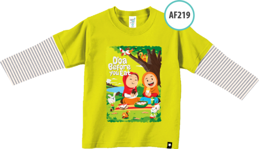 AF219 Kaos Anak Do'a Before You Eat 1