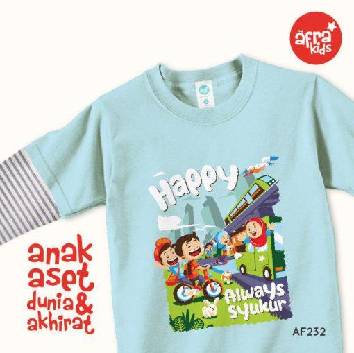 AF232 Kaos Anak Happy Always Syukur 1
