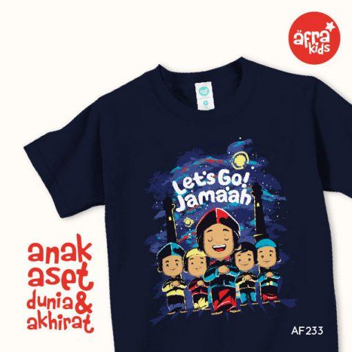 AF233 Kaos Anak Let's Go Jama'ah 1