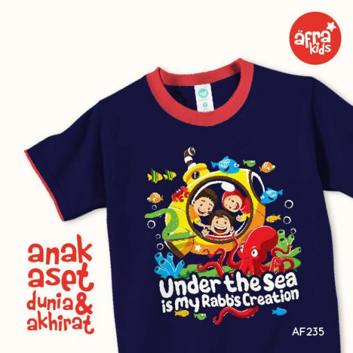 AF235 Kaos Anak Under The Sea is My Rabb's Creation 1