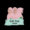 JA009 Jilbab Anak Soft Pink - XL