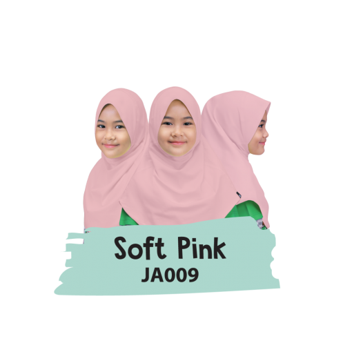 JA009 Jilbab Anak Soft Pink 1
