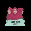 JA011 Jilbab Anak Dark Pink - XL