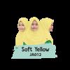 JA012 Jilbab Anak Soft Yellow - XL