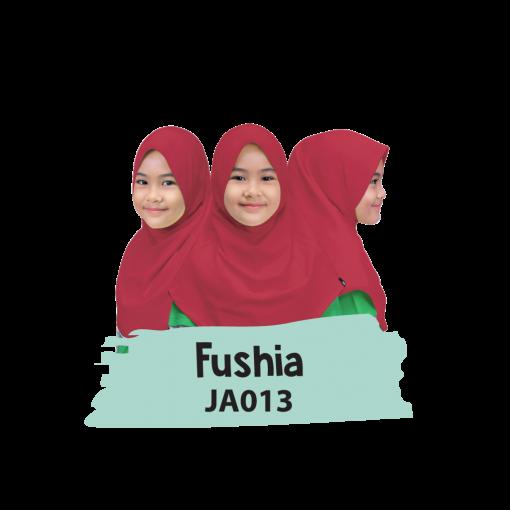 JA013 Jilbab Anak Fushia 1