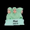 JA014 Jilbab Anak Mint - XL