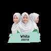 JA018 Jilbab Anak White - XL