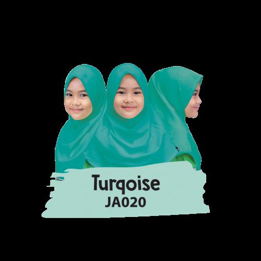 JA020 Jilbab Anak Turqoise 1