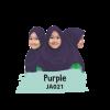 JA021 Jilbab Anak Purple - L